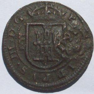 8 Maravedíes de Felipe III (Segovia, 1618) con resello al XII/1641 967037293
