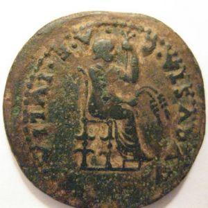Dupondio de EMERITA AVGVSTA a nombre de Livia acuñado por Tiberio 970600387