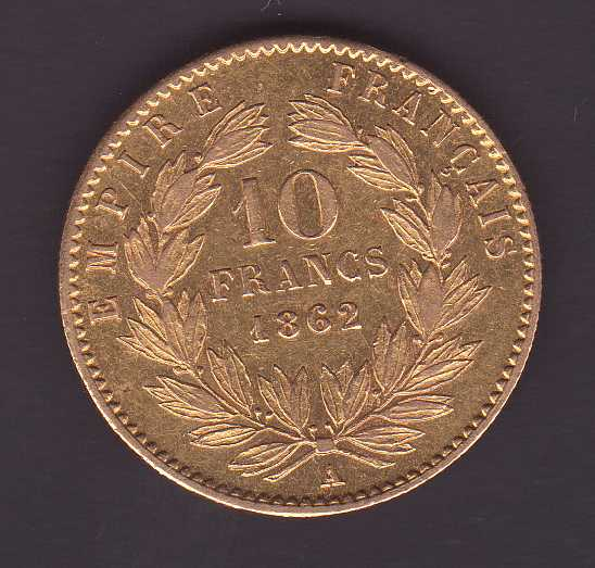 10 Francos de Oro, Napoleón III 195892466