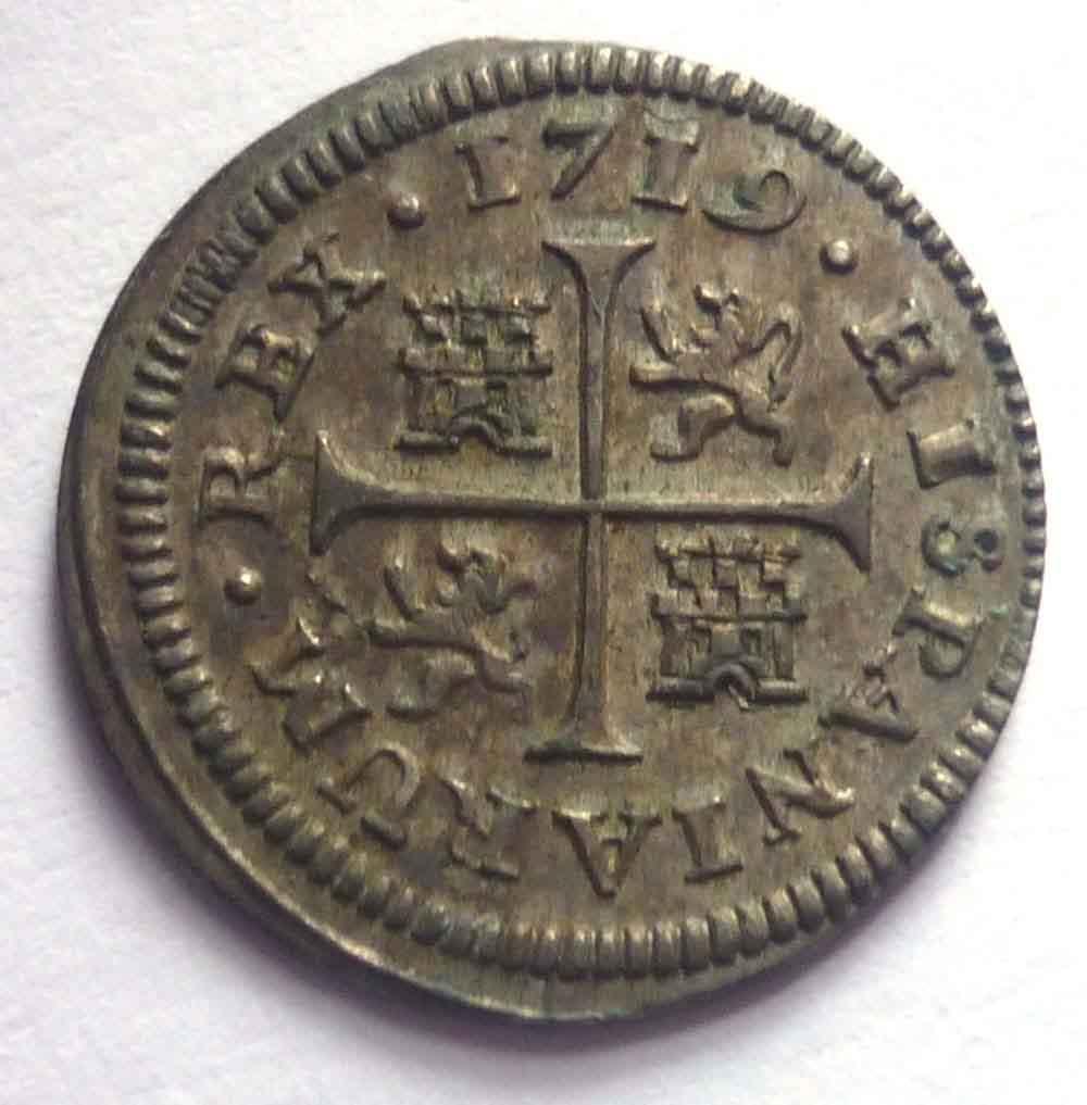 Medio Real de Felipe V (Cuenca, 1719) 434588559