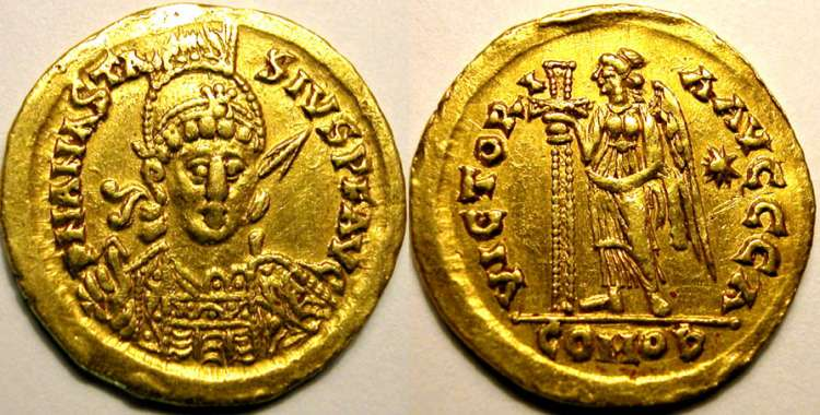 مسكوكات الامبراطور أناستاسيوس الأول MEC_112