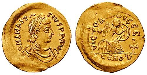 مسكوكات الامبراطور أناستاسيوس الأول Sb0007