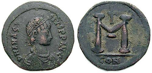 مسكوكات الامبراطور أناستاسيوس الأول Sb0014.1
