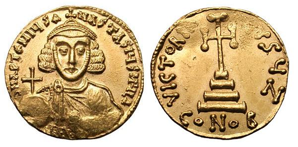 مسكوكات الامبراطور  أناستاسيوس الثاني Sb1463