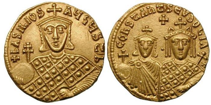 مسكوكات الامبراطور باسيل الأول Sb1703