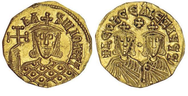 مسكوكات الامبراطور باسيل الأول Sb1705
