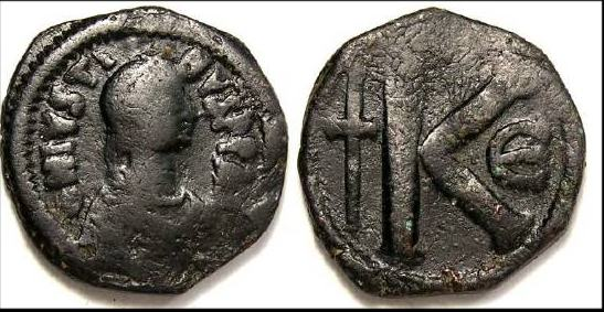 مادا تعني هده الاحرف E K I M على العملات البيزنطيه Sb0068