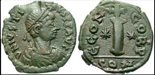 مادا تعني هده الاحرف E K I M على العملات البيزنطيه Sb0071