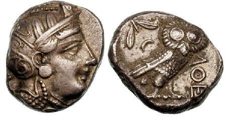 مسكوكات الملكه أثينا  SNGCop_063.8