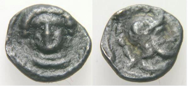 Hemiobolo acuñado en tiempos de Pharnabazos-Datames en Tarsos, Cilicia SNGLev_0091