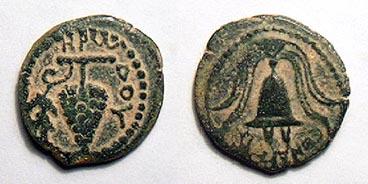 مسكوكات الملك هيرودس أرخيلاوس Hendin_505.5