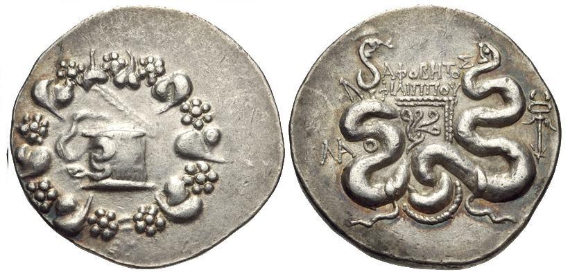 Cistóforo o Tetradracma de Laodicea (Frigia). ΛAO - ΔIOΔΩ/POY. 133/88-67 a.C. BMC_05