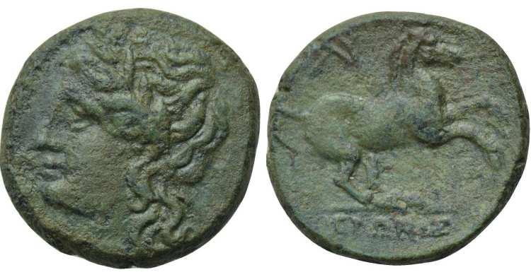 AE16 Sicilo-Púnico. Siracusa SNGANS_1021