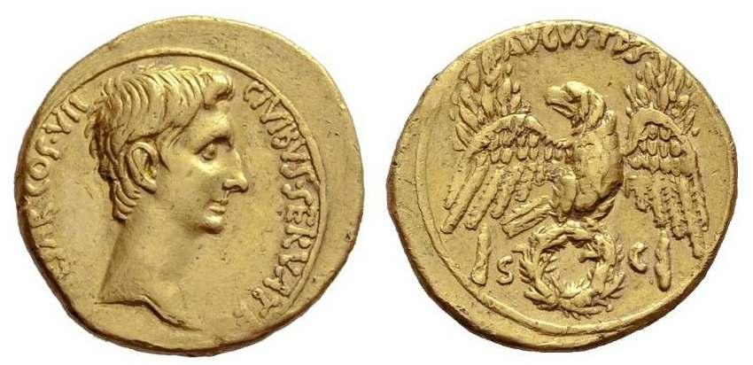 مسكوكات الامبراطور والقيصر اغسطس  RIC_0277.1