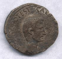 As de Augusto. M. SALVIVS OTHO III VIR AAA FF / S C RIC_0389-o