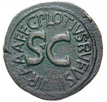 As de Augusto. M. SALVIVS OTHO III VIR AAA FF / S C RIC_0389-r