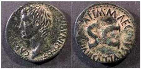 As de Augusto?,reverso S C en letras grandes en el campo.       RIC_0436
