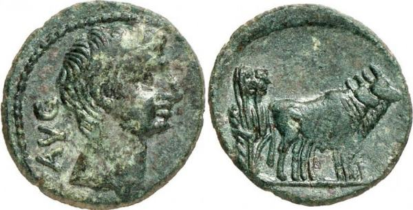 AE16 (Semis) Provincial de Augusto. AVG. Macedonia (Philippi?) RPC_1656