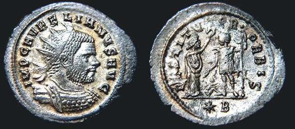 Antoniniano de Aureliano. RESTITVTOR ORBIS. Cycico  RIC_0349_var2