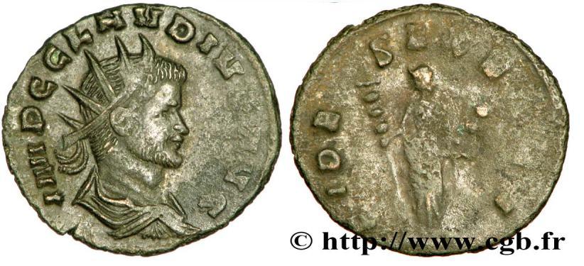 Antoniniano de Claudio II. FIDES EXERCI. Roma. RIC_0034_RDC