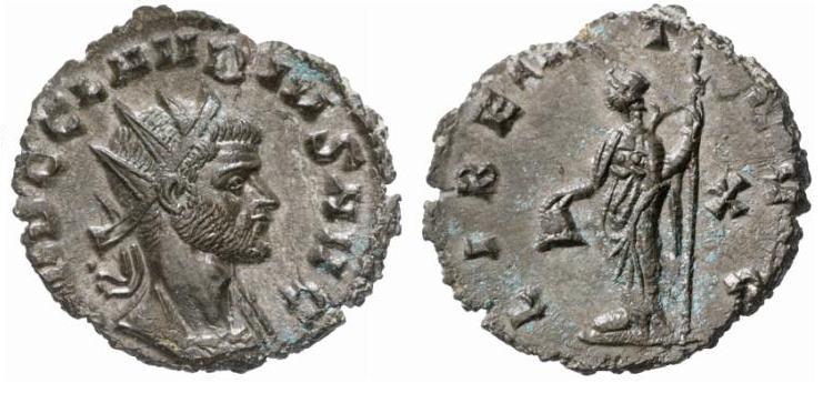 Antoniniano de Claudio II (el Gótico). LIBERT AVG. Roma RIC_0062