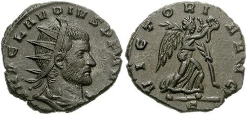 Antoniniano de Claudio II. VICTORIA AVG. RIC_0171