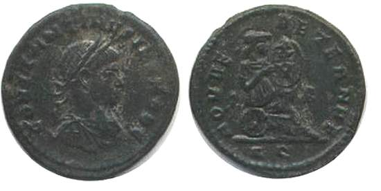 AE3 de Constantino II. ROMAE AETERNAE. Roma _rome_RIC_VII_156_Q
