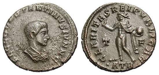 Nummus de Constantino II. CLARITAS REIPVBLICAE. Trier _trier_RIC_vII_153