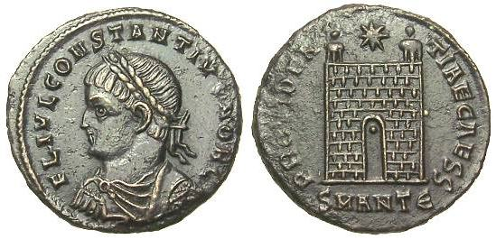 AE3 de Constancio II _antioch_RIC_vII_074v