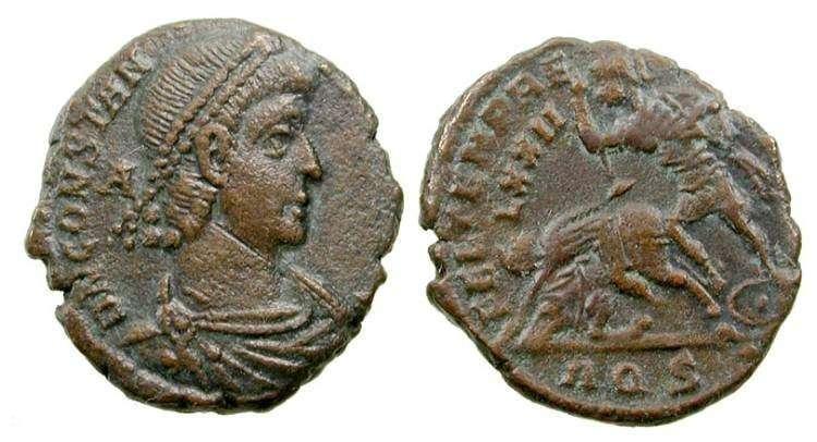 AE3 de Constancio II. FEL TEMP REPARATIO / LXXII. Aquilea _aquileia_RIC_VIII_187