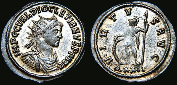 Aureliano de Diocleciano. VIRTVS AVG. Ticino RIC_0244
