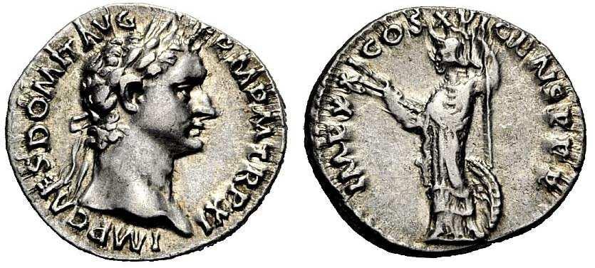 Denario de Domiciano. IMP XXI COS XVI CENS P P P. Roma RIC_0732.2