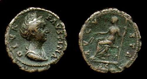 As de Faustina I. AVGVSTA - S C.Ceres sedente a izq. Roma. RIC_1170