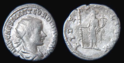 Antoniniano de Gordiano III. FIDES MILITVM. Antioquía RIC_0183-RSC90