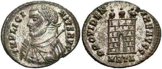 Nummus de Licinio I. PROVIDENTIAE AVGG. Heraclea _heraclea_RIC_vII_017