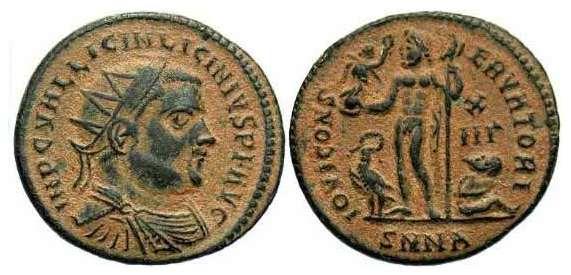 AE3 radiado de Licinio I. IOVI CONSERVATORI. Nicomedia _nicomedia_RIC_VII_044_A