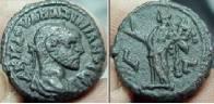 Tetradracma de potín de Maximiano Hércules. Alejandría Milne_4855.th