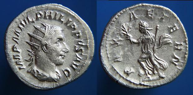 Antoniniano Filipo I. PAX AETERN. Ceca Roma. RIC_0040b.4