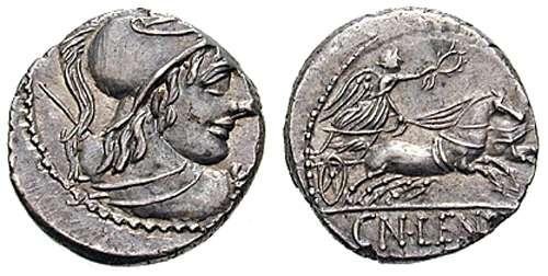 Denario republicano gens Cornelia Cornelia50.8