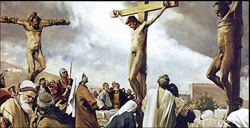 Jésus crucifié TOTALEMENT NU Crucify
