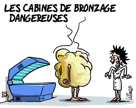 A RIRE OU EN PLEURER OU REVUE DE PRESSE SATIRIQUE - Page 21 Cabines-bronzage-dangereuses1