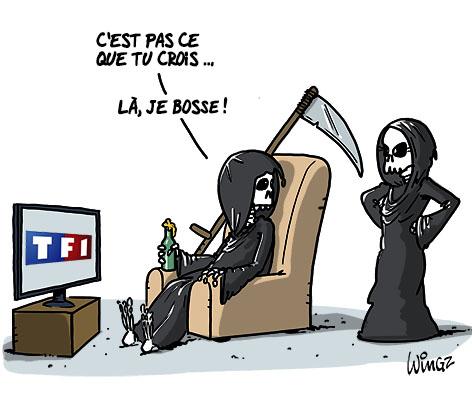 A RIRE OU EN PLEURER OU REVUE DE PRESSE SATIRIQUE - Page 23 TF1-telerealite-morts