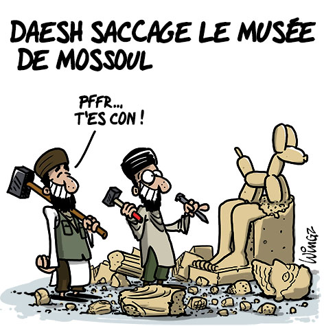 A RIRE OU EN PLEURER OU REVUE DE PRESSE SATIRIQUE - Page 23 Daesh-saccage-mus%C3%A9e-mossoul
