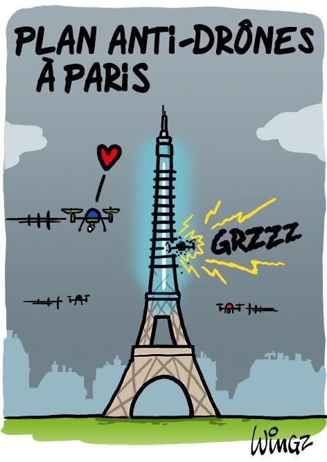 A RIRE OU EN PLEURER OU REVUE DE PRESSE SATIRIQUE - Page 23 Plan-anti-drones-paris1