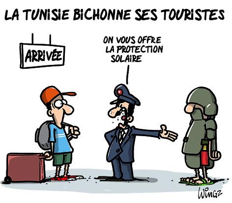 A RIRE OU EN PLEURER OU REVUE DE PRESSE SATIRIQUE - Page 23 Tunisie-bichonne-touristes