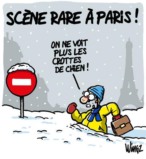 HUMOUR en dessins et en citations - Page 14 Neige-paris