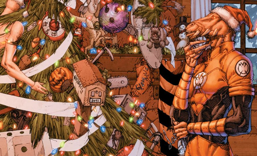 The Book of Larfleeze [par STARGRAVE, P. Plon. Okaara, 2020, 1p.] Larfleeze-Christmas