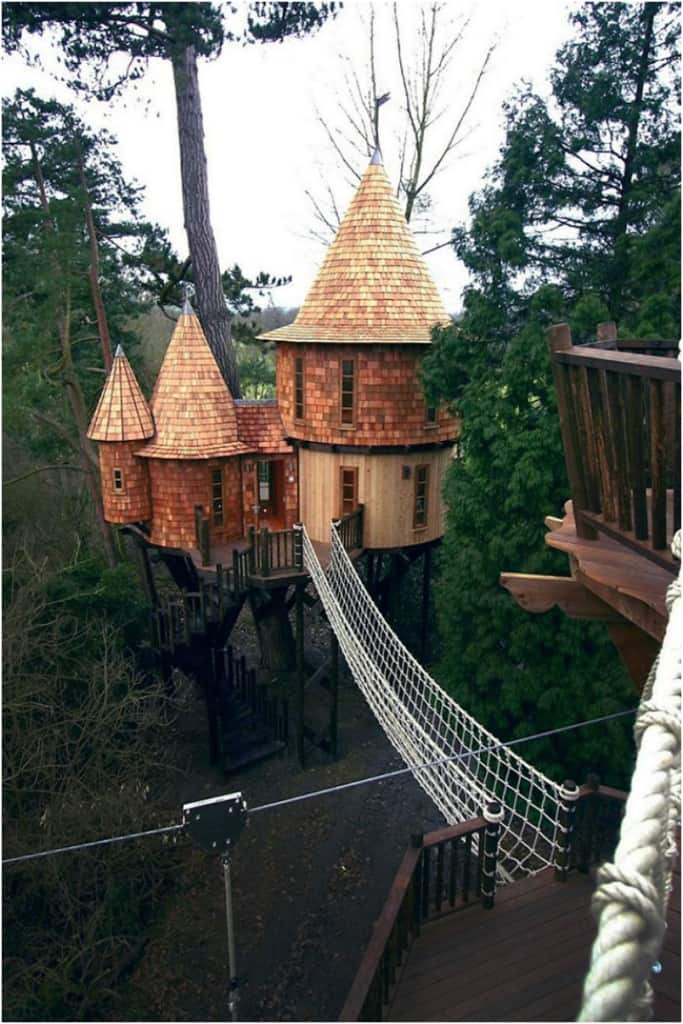 10 Fantastic Treehouse Homes That Will Blow Your Mind! Blue-Forest-Treehouse-683x1024