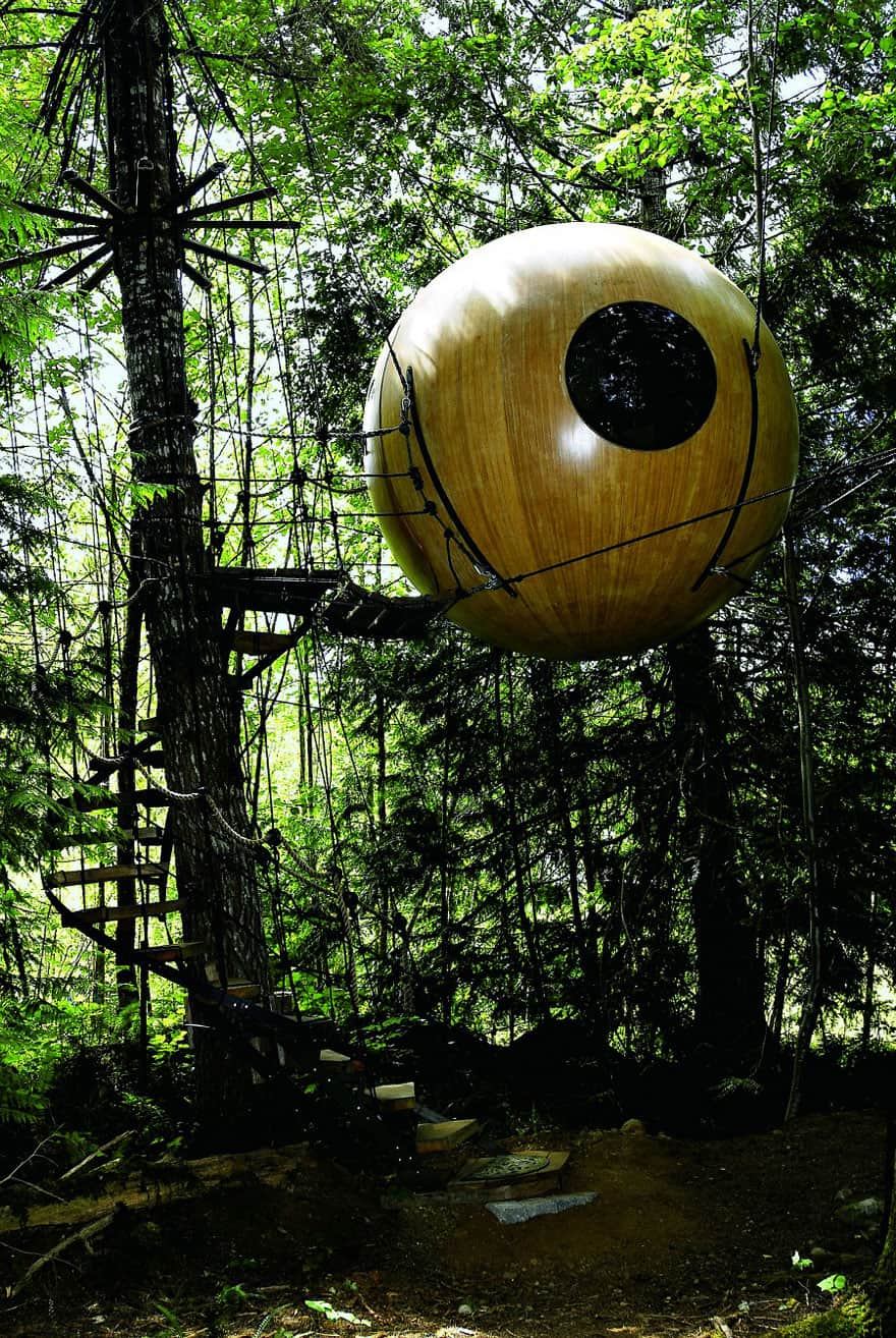 10 Fantastic Treehouse Homes That Will Blow Your Mind! Ball-treehouse