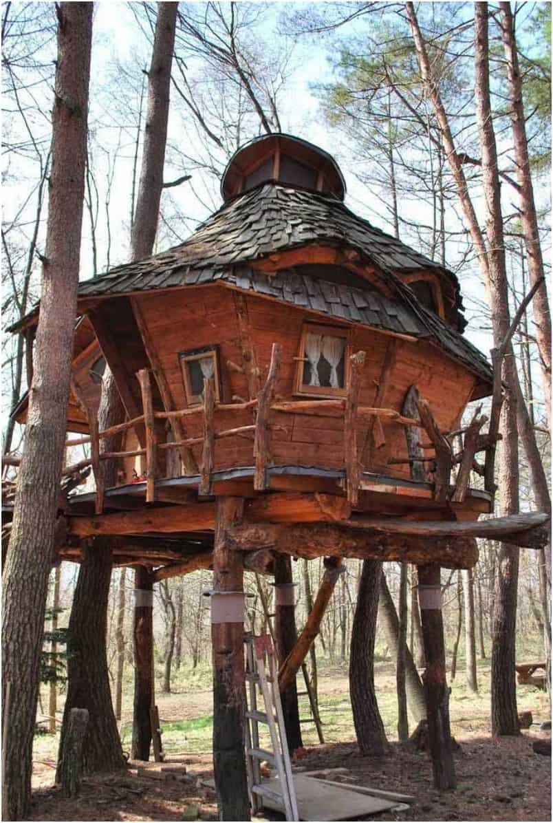 10 Fantastic Treehouse Homes That Will Blow Your Mind! Spa-resort-treehouse